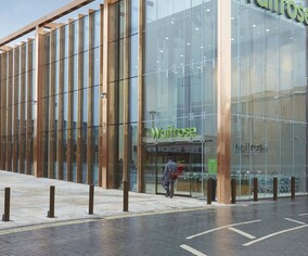 architectural drawing of Waitrose, Chester